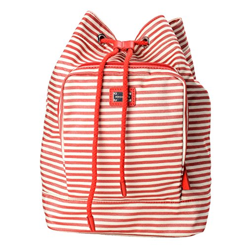 Dolce & Gabbana Multi-Color Striped Women's Drawstring Backpack Bag by Dolce & Gabbana