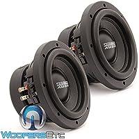 Pair of Sundown Audio SA-6.5 SW D4 6.5 200W RMS Dual 4-Ohm SA Series Subwoofers