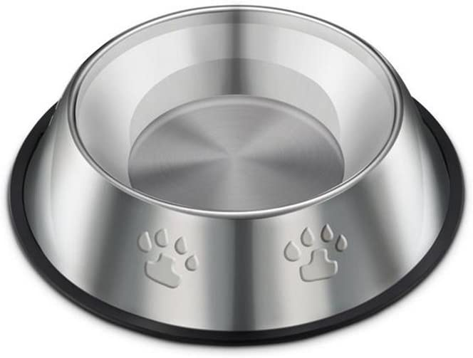 Ruikey Footprints Food Water Feeding Stainless Steel Bowl for Pet Dog