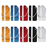 Kesoto Luggage Tags, Bag Tag Travel ID Labels Tag for Baggage Suitcases Bags, Pack of 10