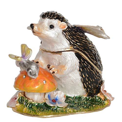Minihouse - Caja para Joyas, Adorno navideño de Erizo Coleccionable, colección de Joyas de Vidrio esmaltadas, Hedgehog#2