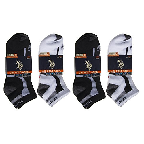 12-pairs-us-polo-assn-low-cut-ankle-socks-men-boy-black-white