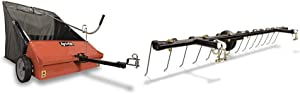 Agri-Fab 45-0492 Lawn Sweeper, 44-Inch & 45-0343 Tine Dethatcher for All Tow Lawn Sweepers