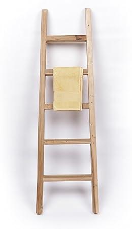 Wohnfreuden Salón Alegrías Madera de Teca Toalla Escalera baño toallero Reciclado 120 cm: Amazon.es: Hogar