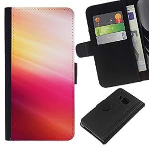 JackGot ( Pink Tones ) HTC One M9 la tarjeta de Crédito Slots PU Funda de cuero Monedero caso cubierta de piel