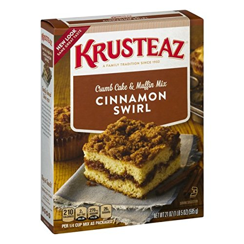 (Krusteaz Cinnamon Swirl Crumb Cake and Muffin Mix, 21-Ounce Boxes (Pack of 4))