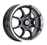 honda civic 1997 rims - Konig Lightning Gloss Black Wheel with Machined Lip (14x6