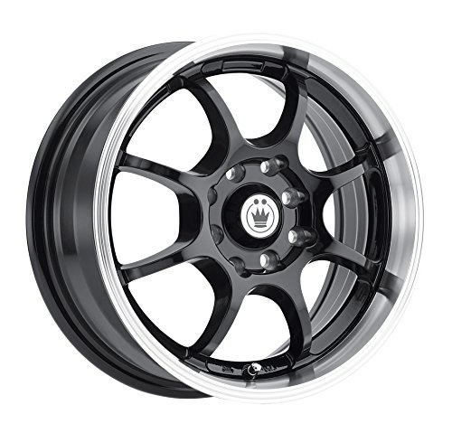 Konig Lightning Gloss Black Wheel with Machined Lip (14x6