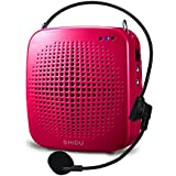 SHIDU Portable LoudSpeaker with Microphone, Classroom PA System or Voice Amplifier with Natural Sound, Works as Speaker with Aux Cable, In built TF Card Reader and USB Flash Drive, Ideal for Teachers