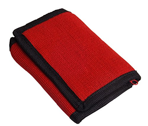 Green Breeze Imports Red RFID Shielded Natural Abaca Fiber Large Wallet