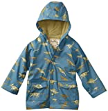 Hatley Little Boys' Children Blue Dino Rain Coat, Newport Blue, 5