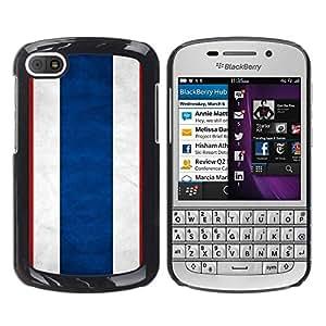 TopCaseStore / la caja del caucho duro de la cubierta de protección de la piel - Thailand Grunge Flag - BlackBerry Q10