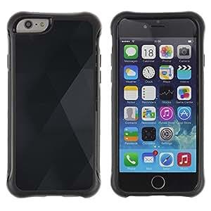 "Pulsar iFace Series Tpu silicona Carcasa Funda Case para Apple iPhone 6+ Plus(5.5 inches) , Modelo del diamante del Rombo Negro Gris"""