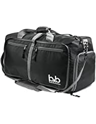Medium Gym Duffle Bag with Pockets - Foldable Lightweight Travel Bag