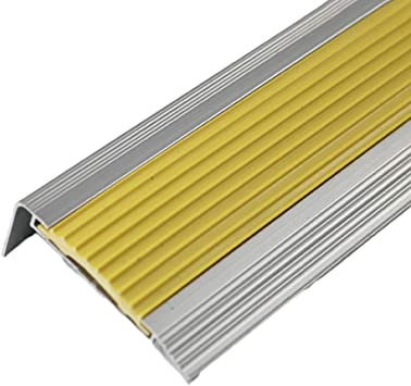 Perfil de transición Tira antideslizante de escalera de aleación de aluminio Pasos de jardín de infancia Tira de goma antideslizante Tira de prensa de mármol Tira anticolisión Tira decorativa del piso: Amazon.es: