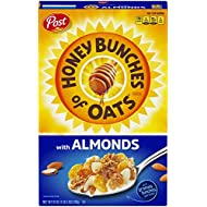 Honey Bunches of Oats with Almonds, Heart Healthy, Low Fat, made with Whole Grain Cereal, 18 Ounce Box