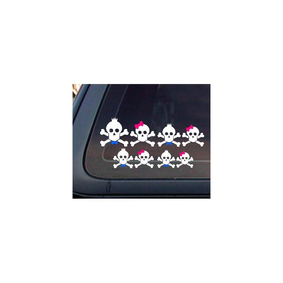 Skull Family Car Decal / Sticker