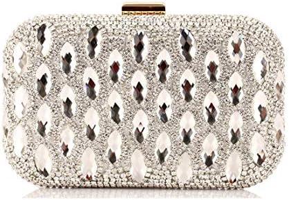 LKJASDHL ゴールドイブニングパーティーバッグファッションクラッチバッグ財布ドレスパールバッグ小さなスクエアバッグレディーバッグディナーバッグチェーンバッグバンケットハンドバッグカジュアルフォーマルな日常のバッグ (色 : Silver)