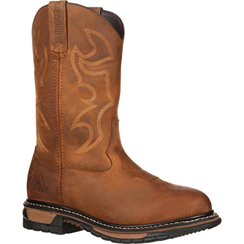 Rocky Women's RKYW082 Western Boot, Aztec Crazy Horse, 6.5 M US image