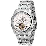 Forsining Men's Automatic Self-winding Day Calendar Stainless Steel Bracelet Brand Watch FSG9404M4S4