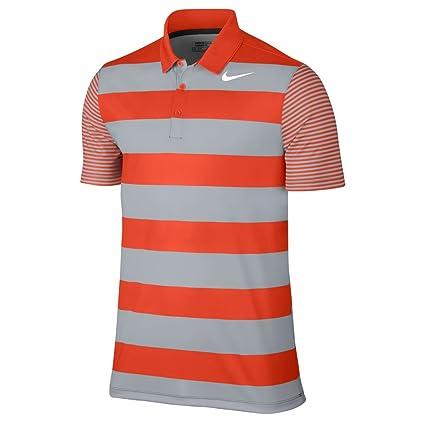b6e262cd Nike Men's Dry Bold Stripe Golf Polo (Medium, Team Orange/White):  Amazon.in: Sports, Fitness & Outdoors