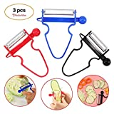 #6: Magic Trio Peeler [2018 NEW] - Peel Anything In Seconds With The Amazing 3pc Peeler Set (Set of 3)