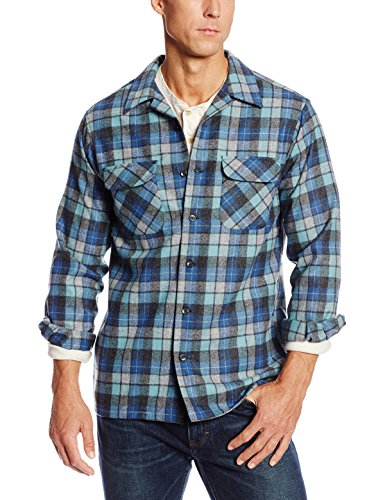 (Pendleton Men's Big & Tall Long Sleeve Board Shirt, Blue/Green Original Surf Plaid-30789,)
