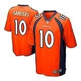 10 Emmanuel Sanders Denver Game Mens Football Jersey Orange