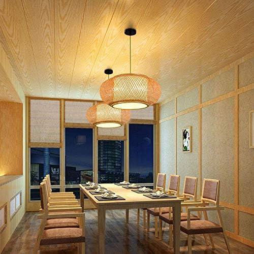 GAO Kreative Bunte Rattan Lampenschirm Pendelleuchte Retro Sph/ärische Laterne Deckenleuchte F/ür Esszimmer Restaurant Kaffee Bar,Black-20CM