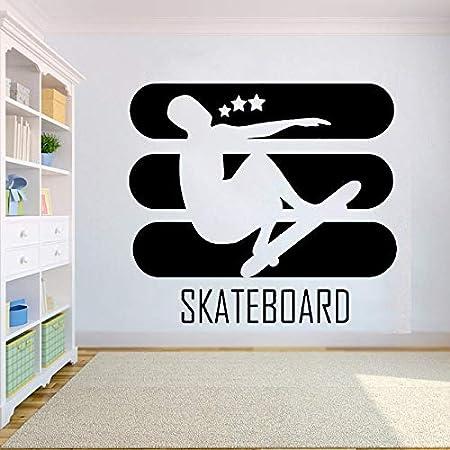 hllhpc Skateboard Vinilo Etiqueta de la Pared para niños ...