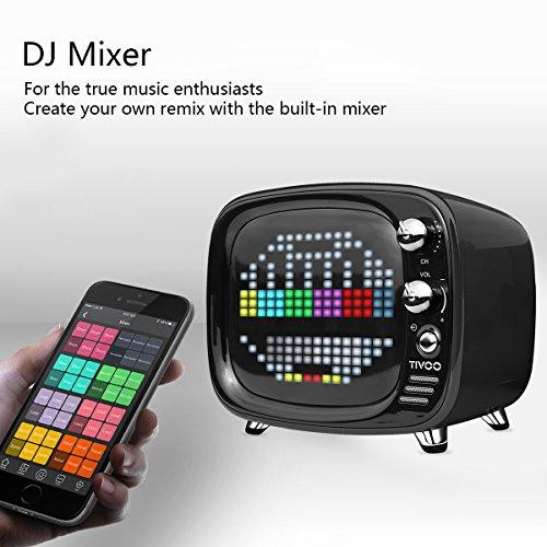 Divoom Tivoo Timebox Bluetooth Speaker Smart Portable Sleep-aid Alarm Clock LED APP Control Pixel Art Creation Animation LED Bluetooth Speaker (Black)