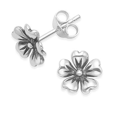 01c9f3e3c Heather Needham Sterling Silver flower Earrings, Flower Stud Earrings -  SIZE:8mm. Gift Boxed 5191: Amazon.co.uk: Jewellery