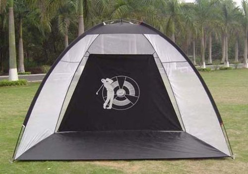 Goplus Golf Practice Driving Hitting Net Cage Training Mat Aid Driver Irons W/free Bag by Goplus