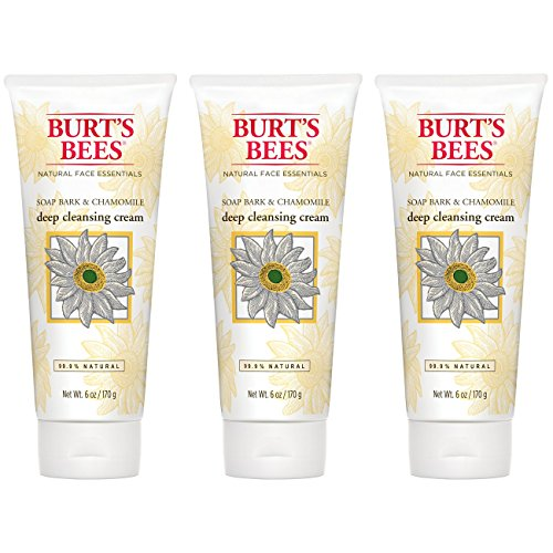 (Burt's Bees Soap Bark and Chamomile Deep Cleansing Cream, 6 Ounces (Pack of 3))