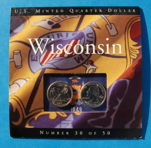 2004 P & D Wisconsin State 2 Quarter-Uncirculated P and D Collection Quarter Seller Brilliant Uncirculated