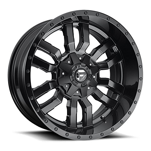 FUEL Off-Road Wheels: Sledge (D596) - Gloss Matte Black; 17x9 Wheel Size, 5x114.3 / 5x127 Duel Lug Pattern, 78.1mm Hub Bore, 01mm Off ()