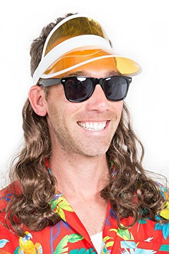 The Kook Mullet Wig Visor (Tourist Costumes)