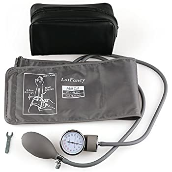 Aneroid Sphygmomanometer Blood Pressure Gauge - LotFancy Manual Blood Pressure Cuff with Zipper Case, FDA Approved (Wide Range Cuff 8-16.5 Inch)