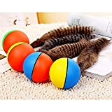 Funny Pet Dog Puppy Cat Motorized Weasel Appears Jumping Moving Rolling Ball Toy