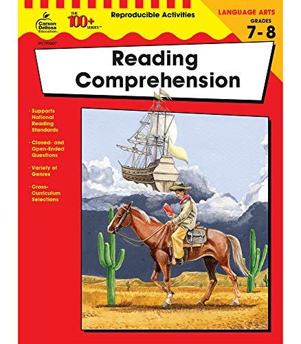Carson Dellosa The 100+ Series: Reading Comprehension Workbook―Grades 7-8 Language Arts Learning, Fiction, Nonfiction…