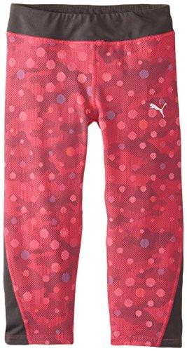 (PUMA Girls' Big' Optical Dot Capri Pant Pink Glow X-Large)