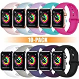 Rabini Compatible with Apple Watch Band 44mm 42mm for Women, Replacement Accessory Sport Band for iWatch Apple Watch Series 4, Series 3, Series 2, Series 1