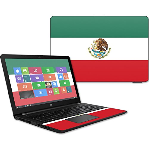 """MightySkins Skin for HP 15t Laptop 15.6"""" (2017) - Mexican Flag   Protective"""