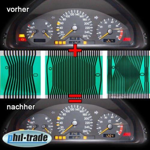 Pixel Reparatur Tacho Multifunktions Display Kontaktfolie Flexband Auto