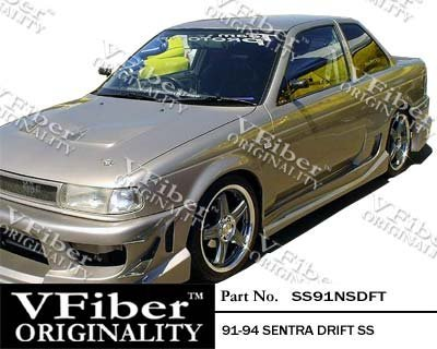 (1991-1994 Nissan Sentra 2dr Body Kit Drift Side Skirt)