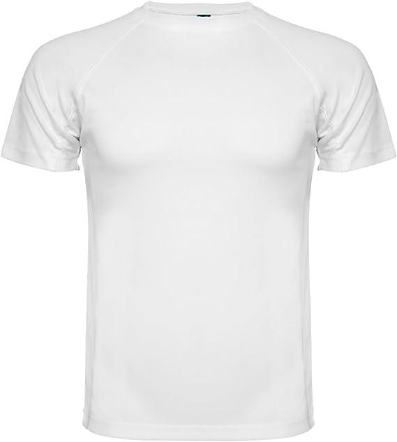 Roly Camiseta técnica para Hombre Montecarlo, Blanca: Amazon.es ...