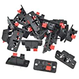 uxcell® 20Pcs 2 Way Stereo Speaker Plate Terminal Strip Push Connector Block