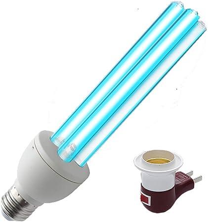 E27 25 Watt Desinfektionslampe Desinfektionslampe Uv Lampe Tragbare Uv C Led Desinfektionsmittel Desinfektionslampe Mobile Haushaltsdesinfektionslampe Inhibitionsrate 100 Amazon De Kuche Haushalt