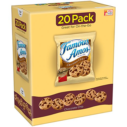 Famous Amos Chocolate Chip Cookies Caddy Packs, 20 ct