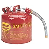 Type ll Safety Cans - 5 gal 12'' flex spout 1''od safety can